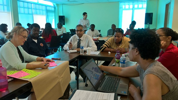 Atendees at the Workshop for research study on the Total Economic Valuation of the natural resources of the Virgin Islands (Photo Credit: Tessa Smith-Claxton)