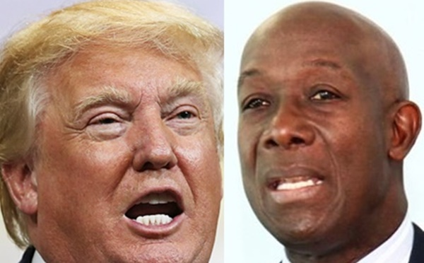 Trump (left) and Rowley