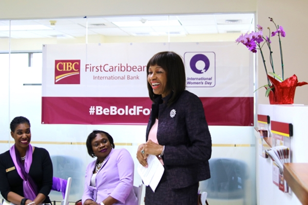 Mrs Lorna Smith an CIBC's 'Be Bold For Change' event last week.