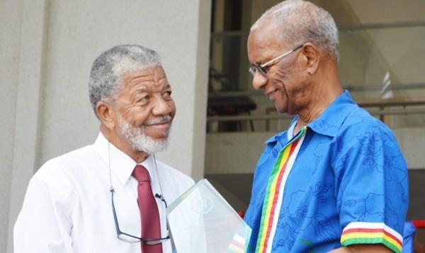 Douglas Wheatley and Premier Dr D Orlando Smith. File photo