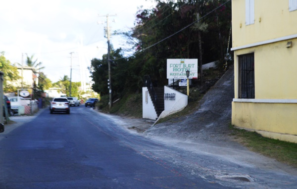 Entrance to Fort Burt Hotel