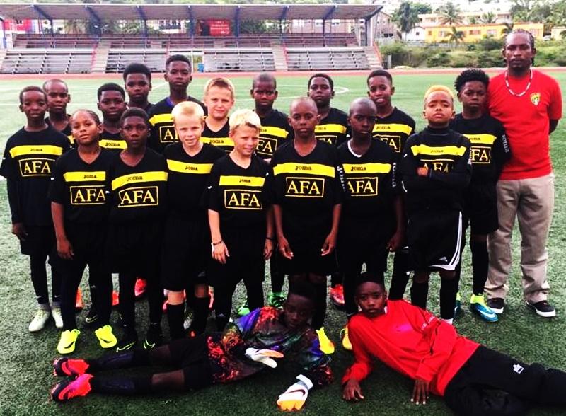 BVI footballers test skills in Saint Maarten
