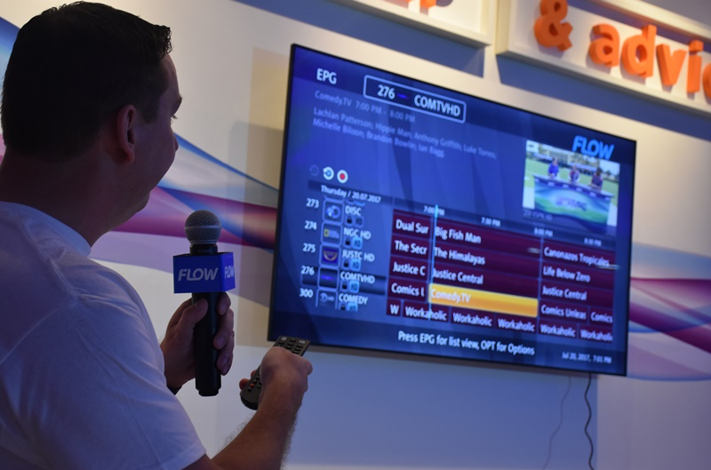 Flow launches TV service
