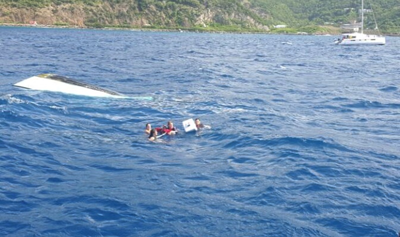 Persons rescued from sinking boat