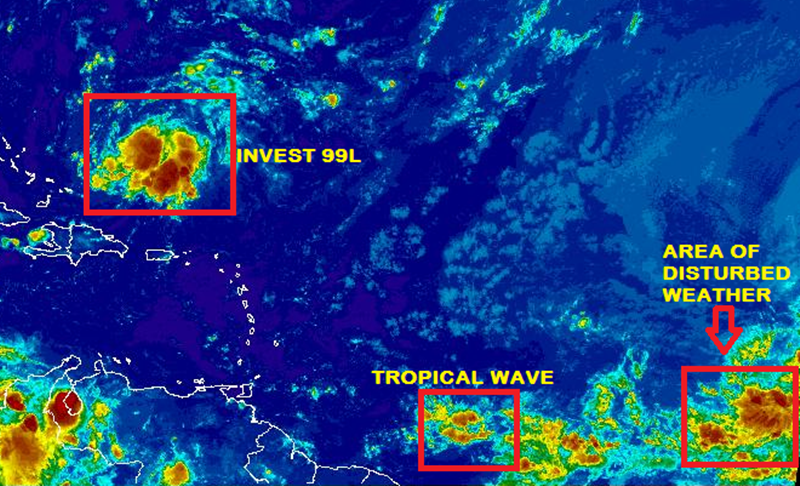 Tropical wave may be very close by Monday