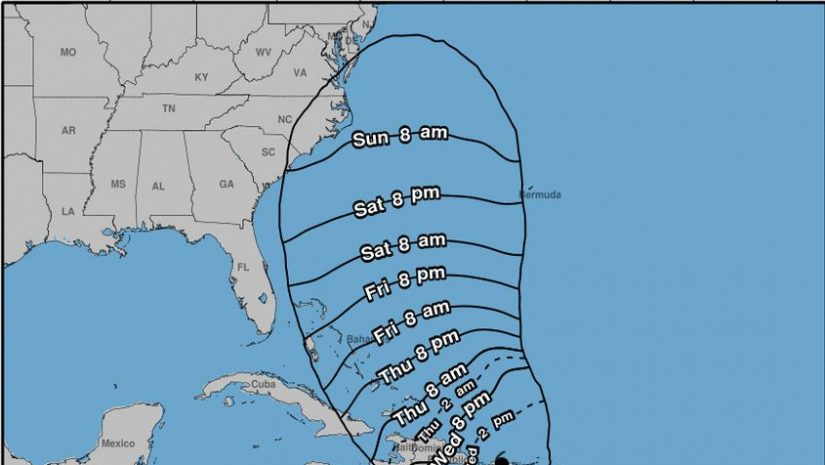 UPDATE: Maria downgraded to category 3 hurricane