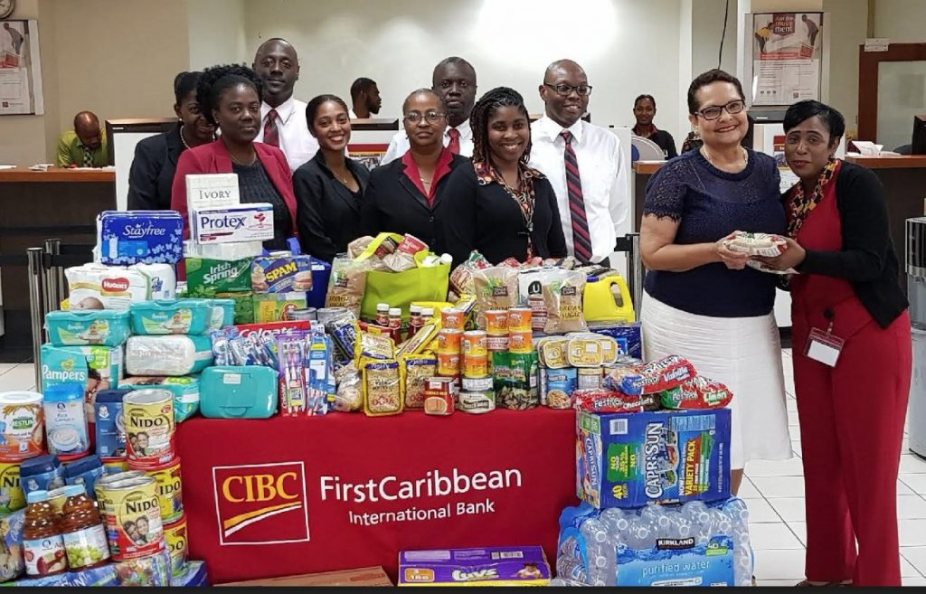 CIBC FirstCaribbean bank help restock FSN pantry