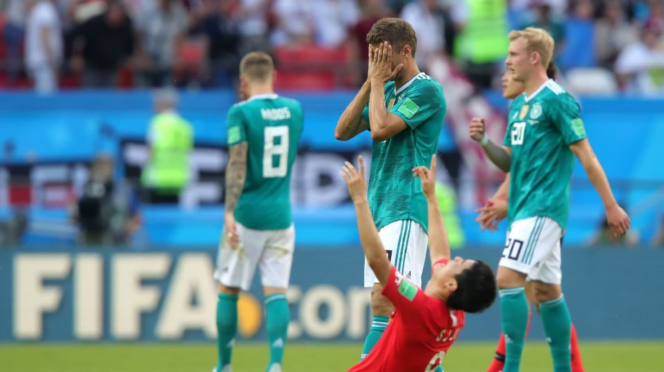Defending champs Germany knockout of World Cup