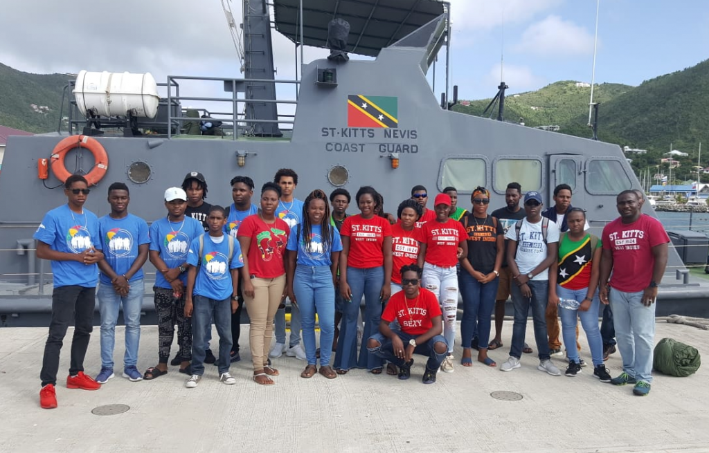 Youth ambassadors assisting with BVI's readiness activities