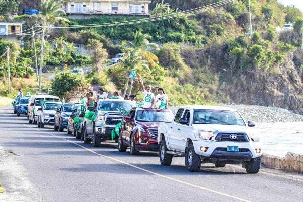 PHOTOS: Massive VIP motorcade