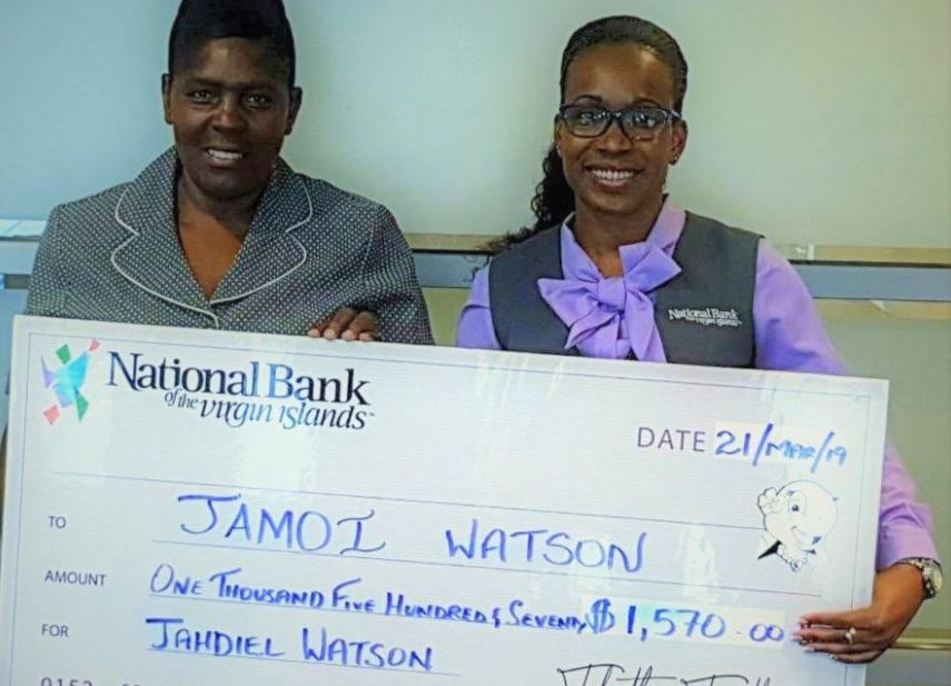 Nat'l Bank raises over $1K to support 4yo cancer patient