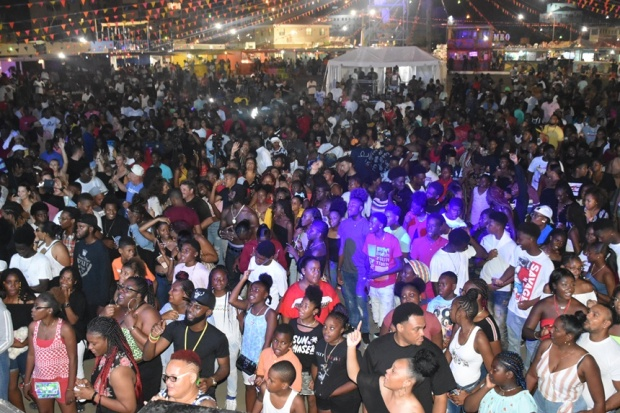 Full house for village opening, Premier warns against criminal conduct during festivities