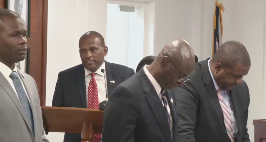 Vanterpool, Willock clash after swearing-in | Politician trashes Speaker outside parliament