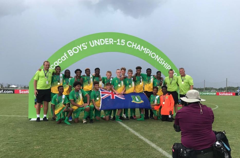 Way to go boys! BVI division winners of CONCACAF U15 championship