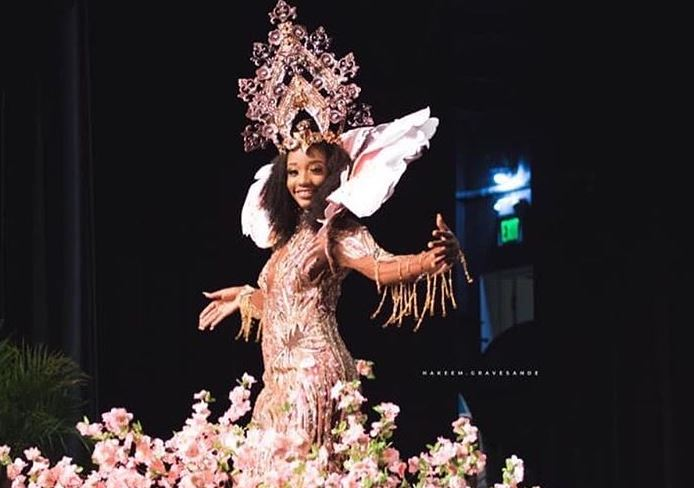 Miss BVI wows Miss Universe pageant in a dress inspired by territory's national tree