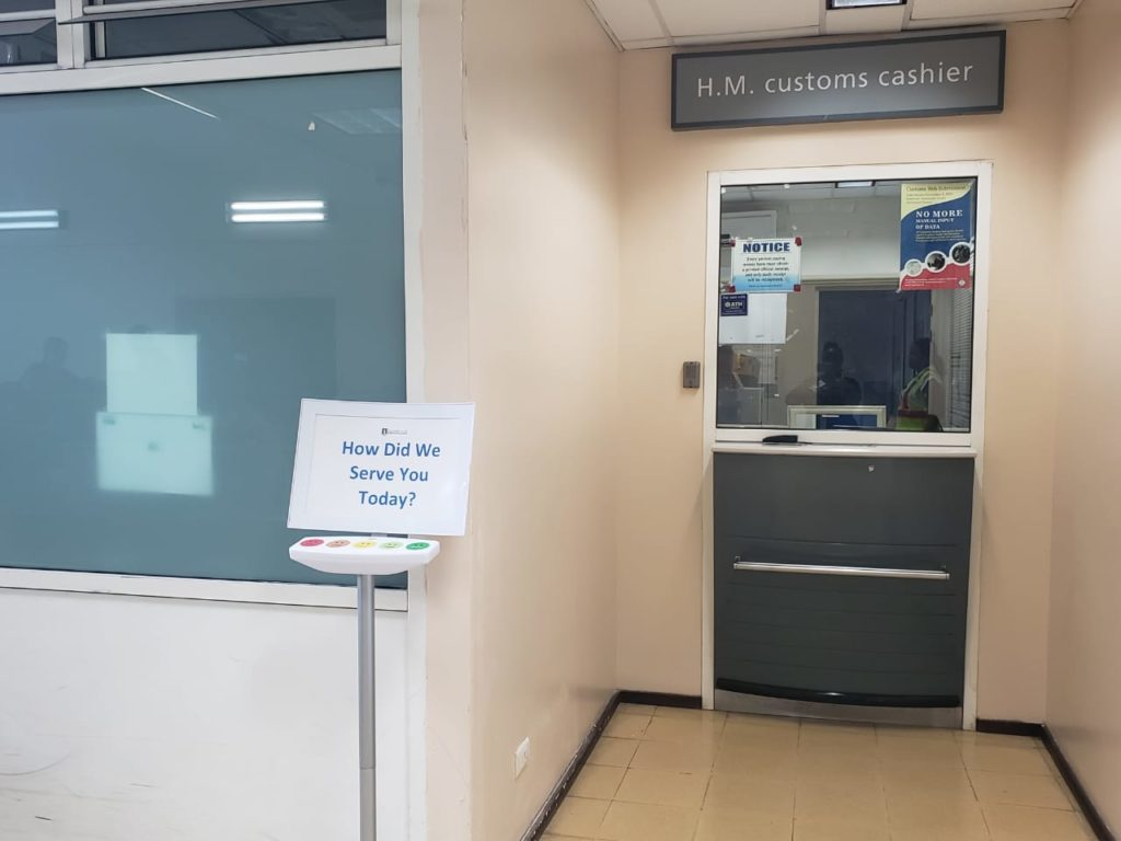 Customer Service Touch Terminals installed at two local ports of entry