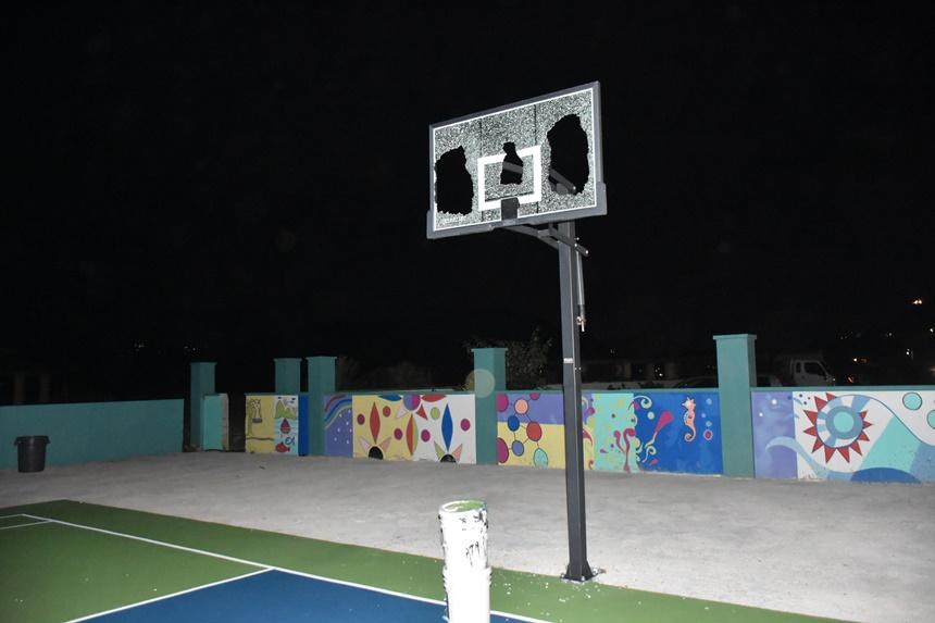 Recently-refurbished basketball court in West End vandalised