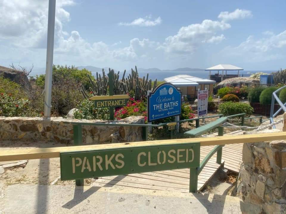 The Baths closed to residents from 9am to 2pm on cruise ship days