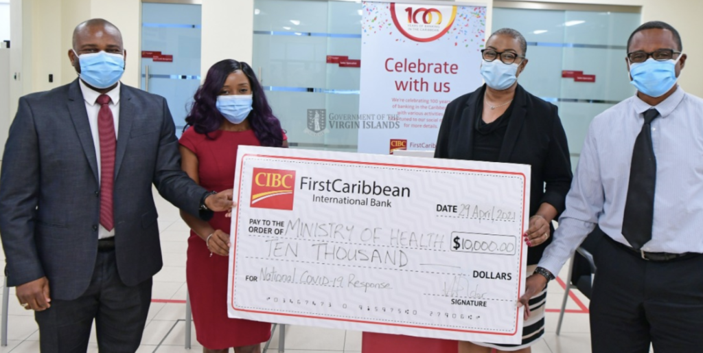 CIBC First Carib'n donates $10K to Public Health for COVID response