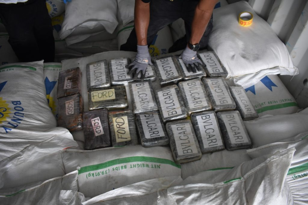 39 kilos of substance believed to be cocaine found at cargo facility